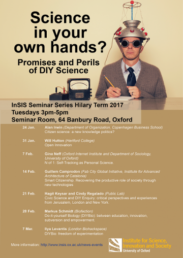Insis seminar series do it yourself biology diybio between promises and perils of diy science solutioingenieria Images